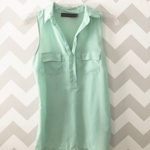 The Limited blue green cooler sleeveless top
